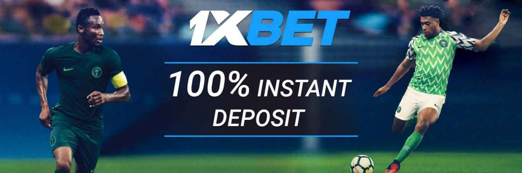 1xBet one-click account registration.