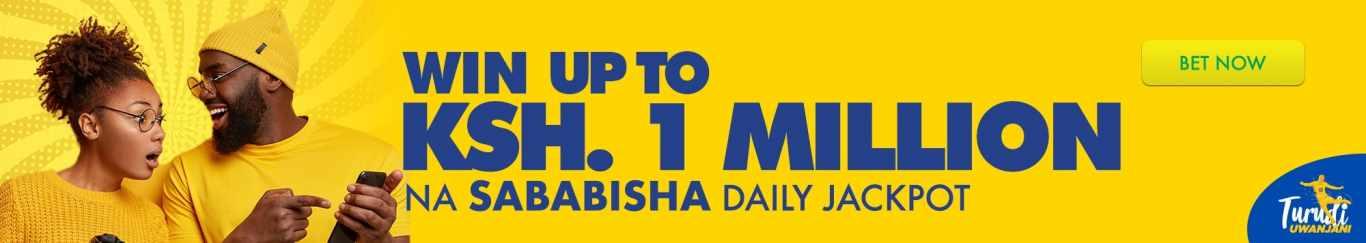 Betika jackpot: up to KSH. 1 million.