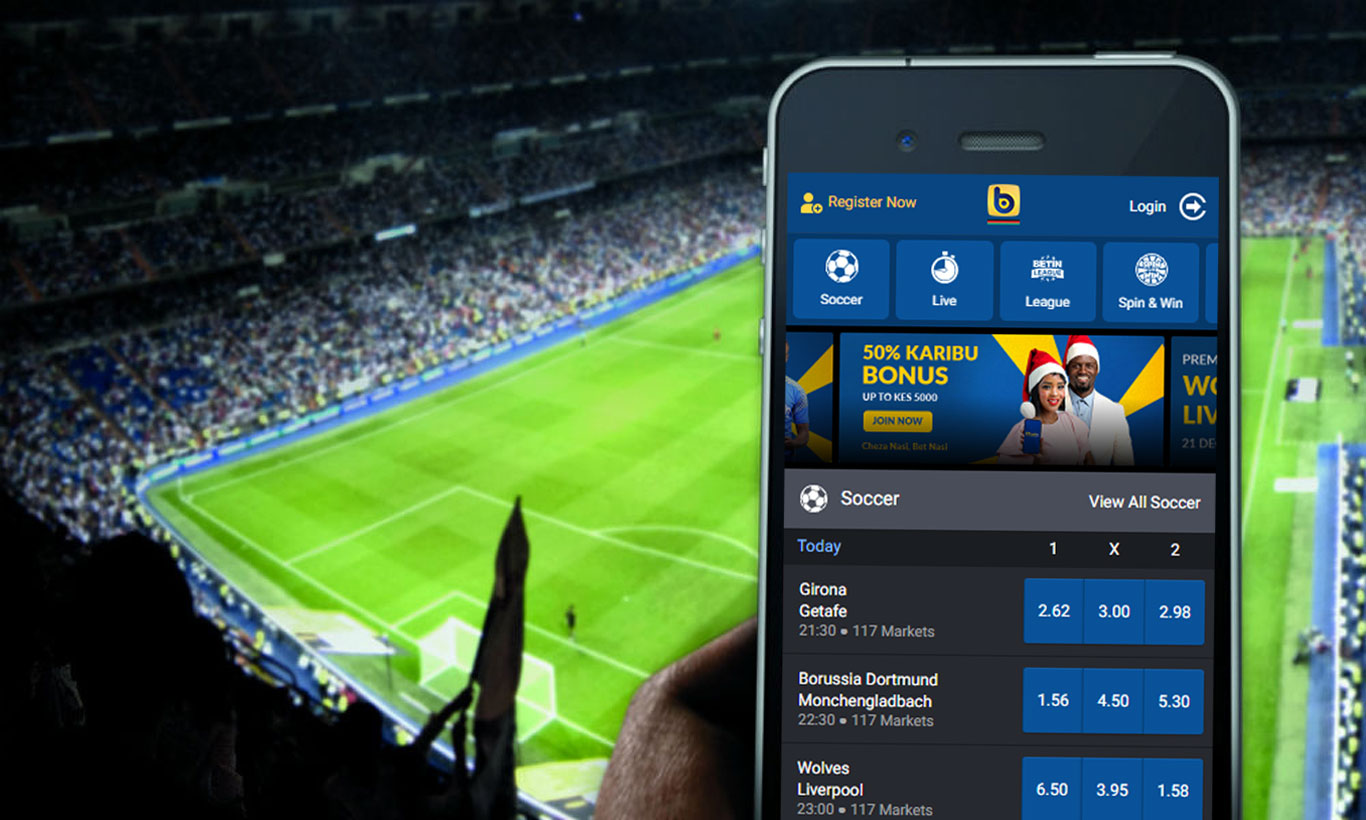 Deposit and betting with Betin mobile app.