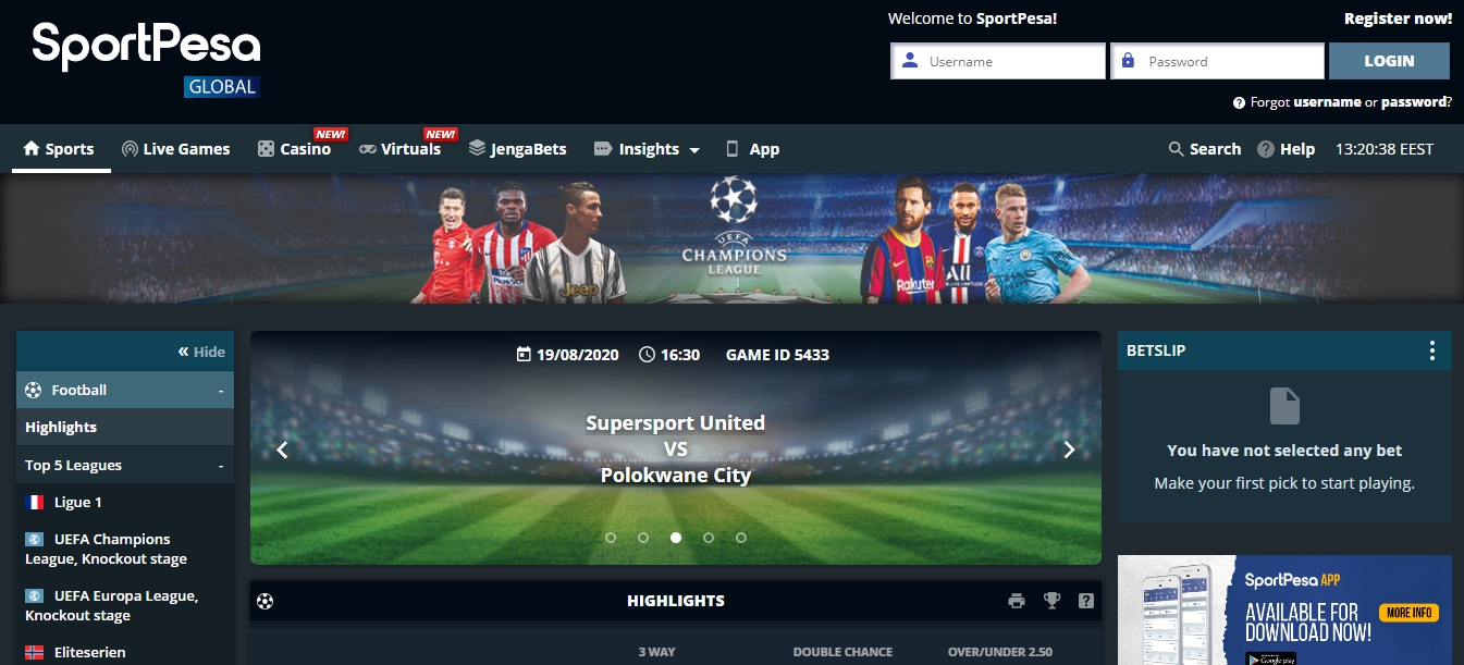 Available Sportpesa midweek jackpot bonuses.