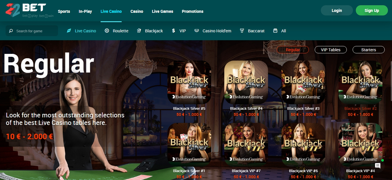 22Bet casino Kenya