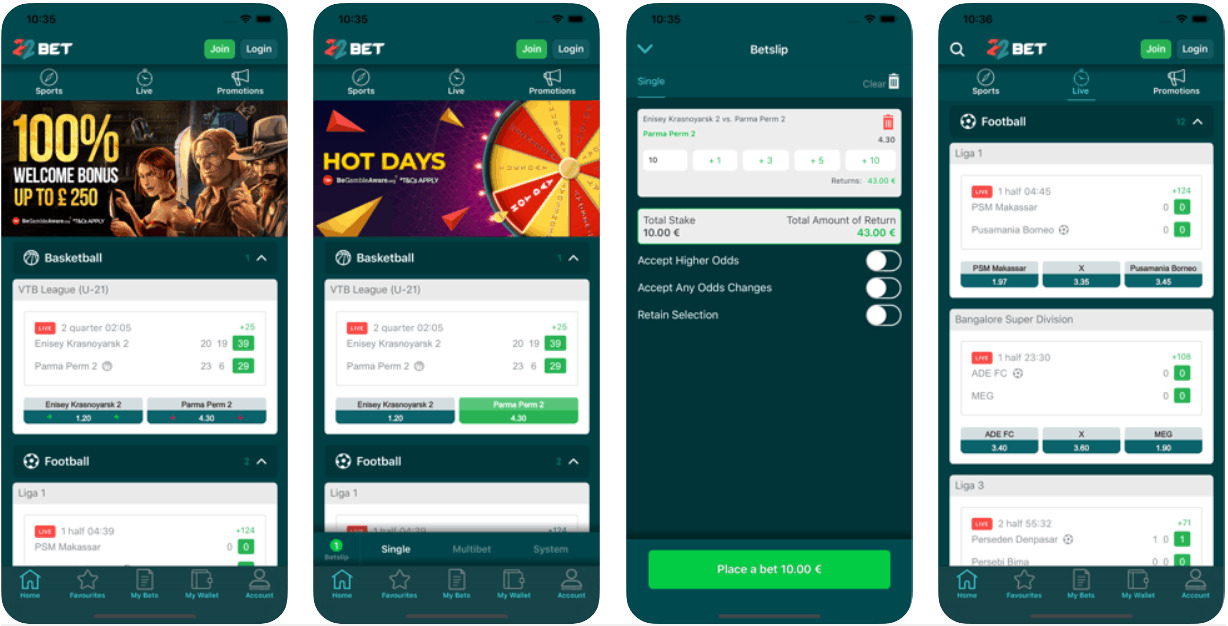How to download and install 22Bet Android app.