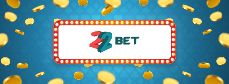 22Bet welcome bonus for every beginner.