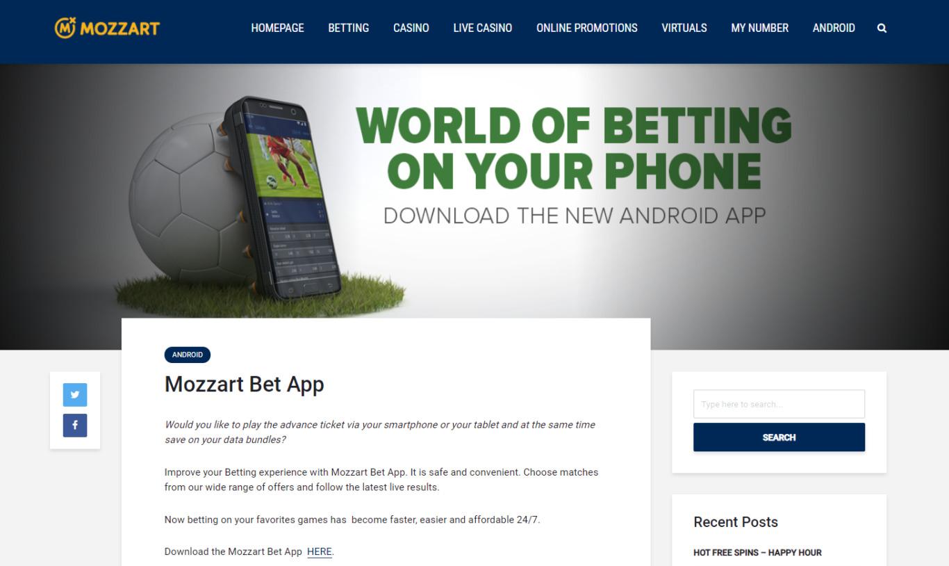 Mozzart Bet App Registration