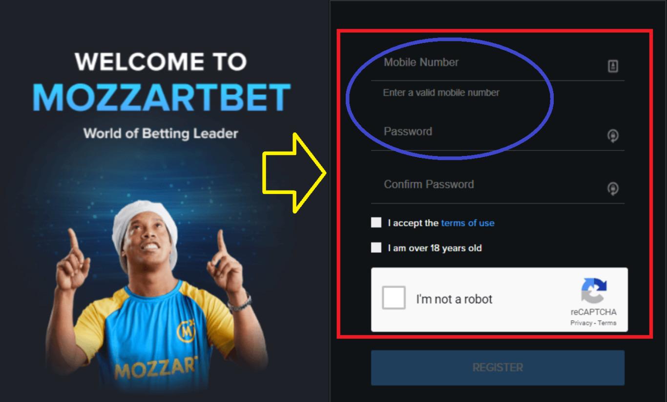Mozzart Bet Kenya Registration Process